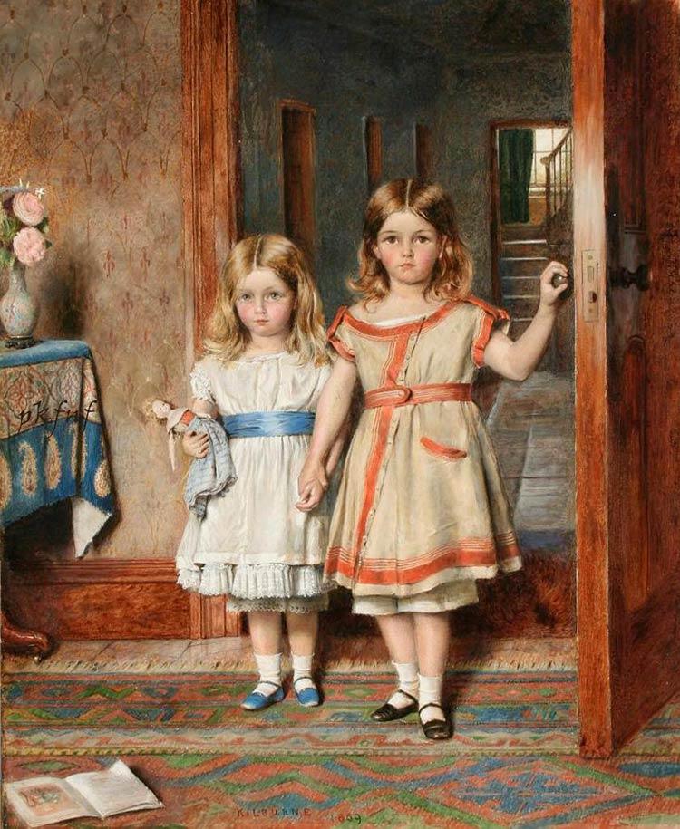 картина две девочки