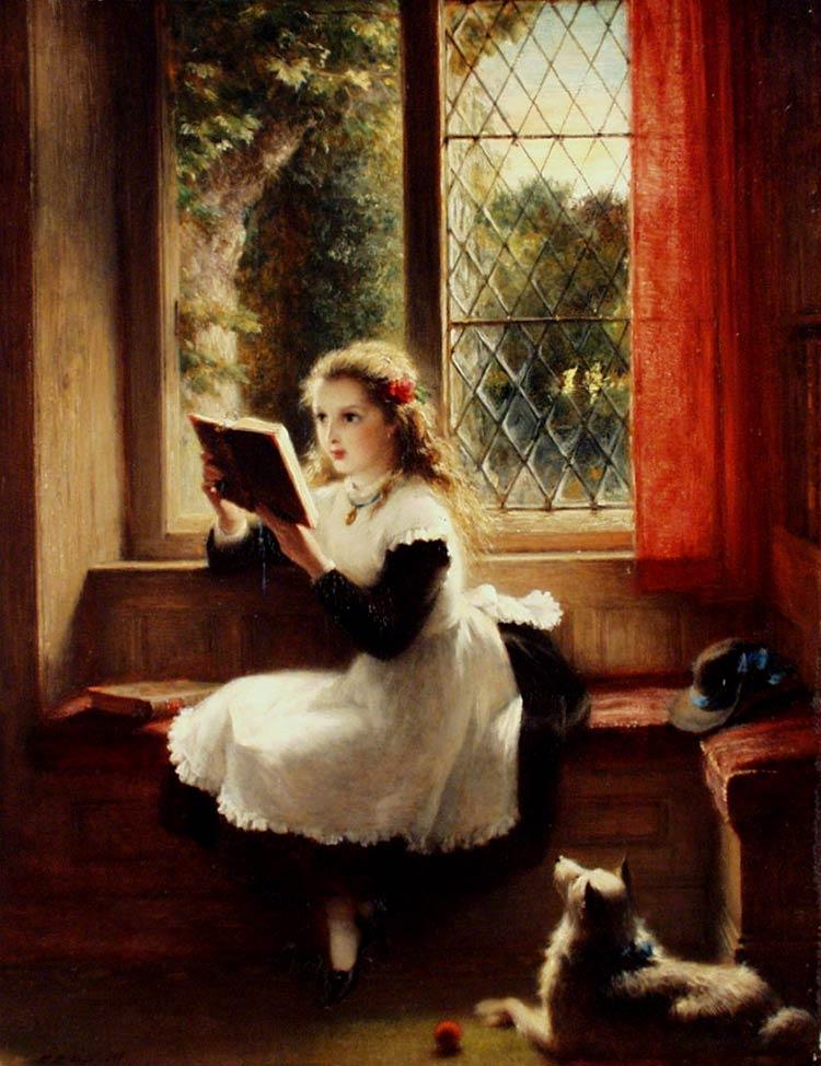 картина портрет девочки