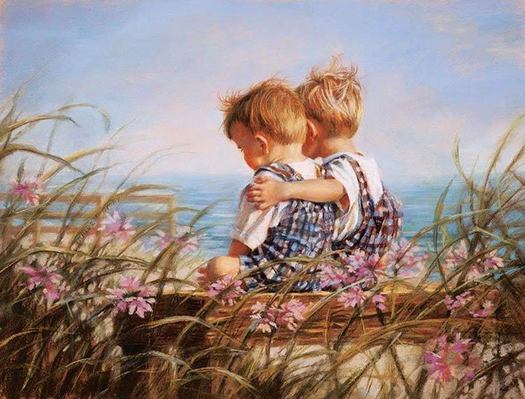 картина с двумя детьми