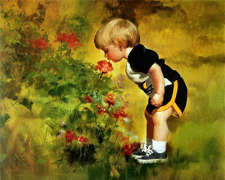 картины художников с изображением детей