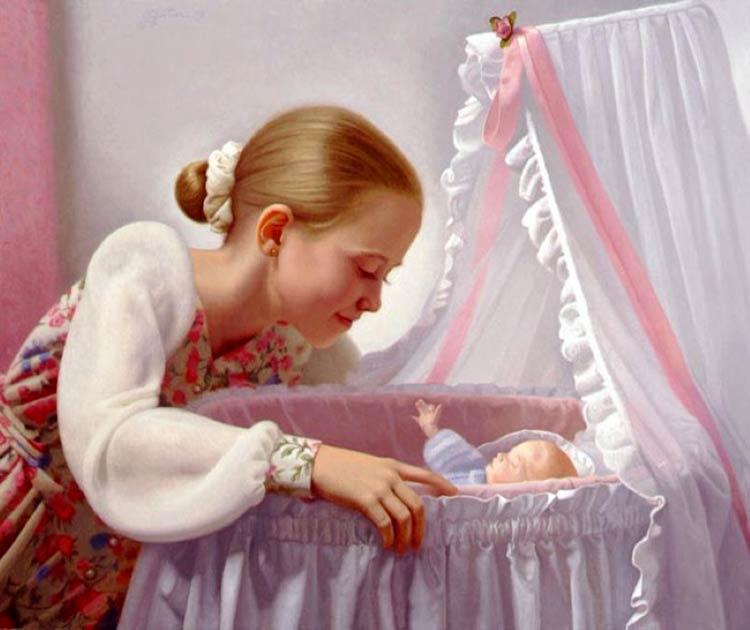 маленькие дети картины