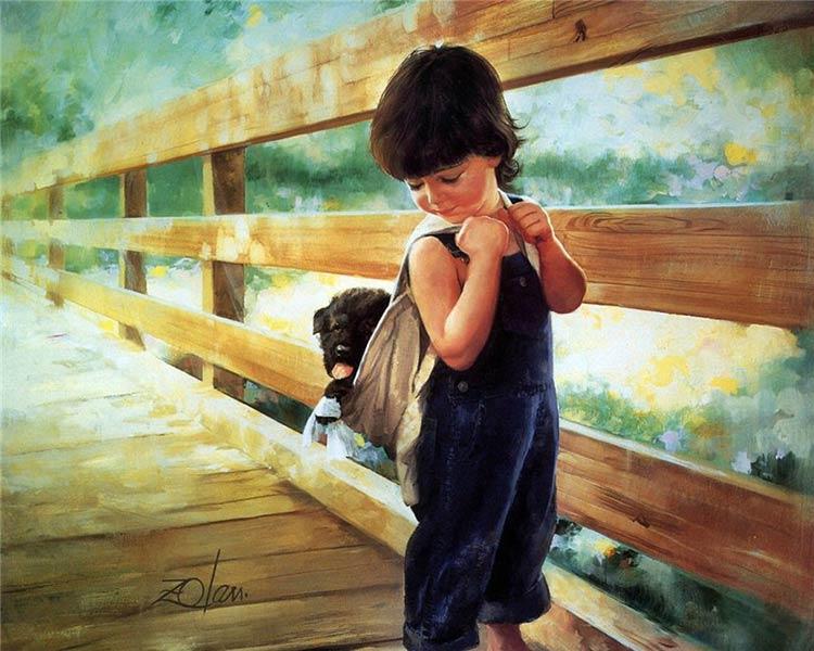 портрет мальчика живопись