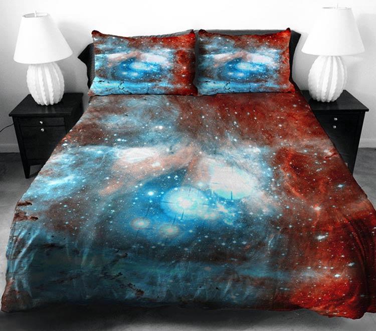 постельное белье с космическим принтом