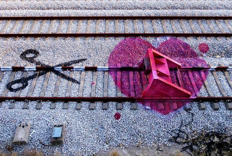 сердце граффити