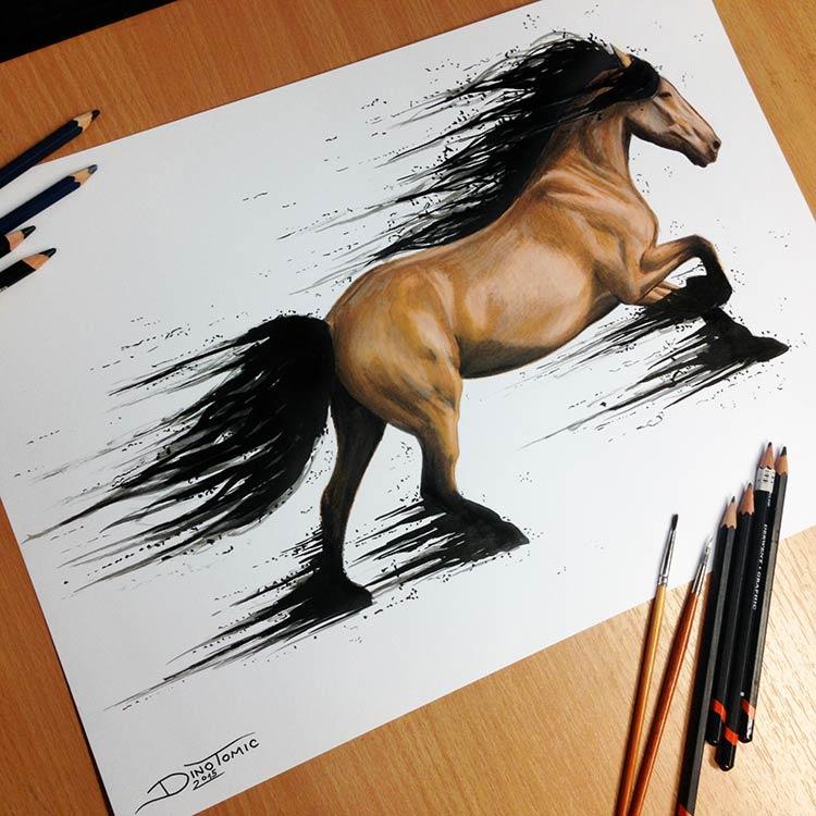 прикольные рисунки цветными карандашами