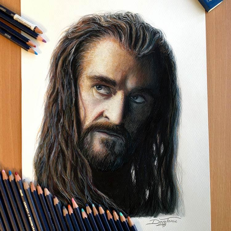 рисунки цветными карандашами портреты