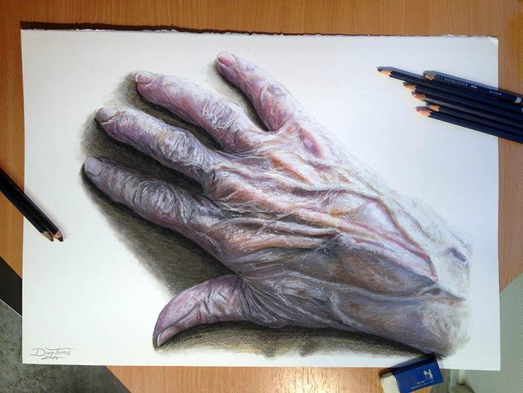 рисунок руки человека