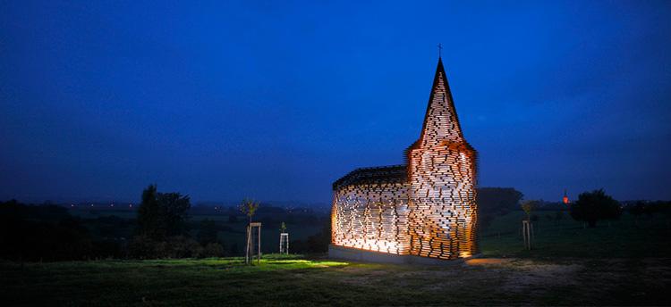 необычная церковь в бельгии