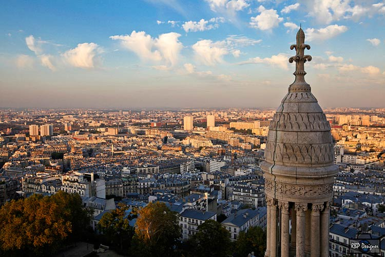 панорама парижа фото