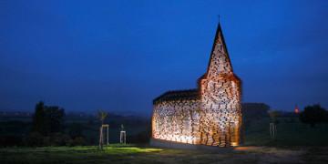прозрачная церковь в бельгии