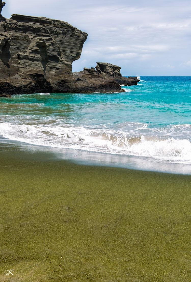 цветные пляжи