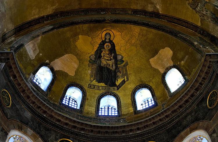 собор святой софии в константинополе мозаика фото