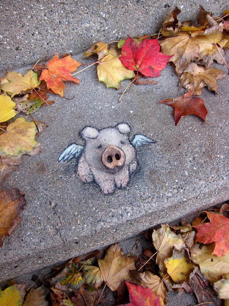 вид уличного искусства
