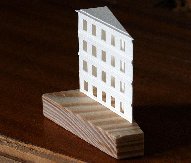 бумажная фигурка здание