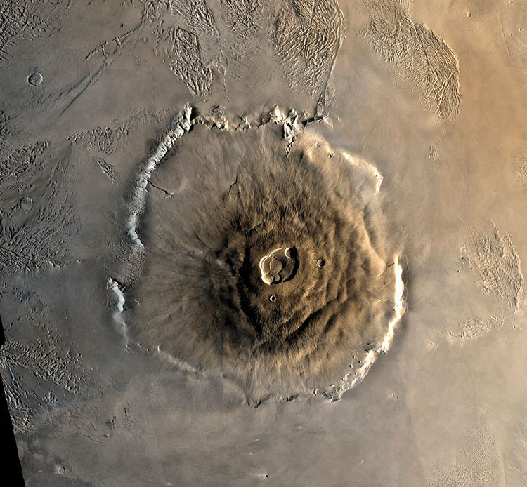 гора олимп марс