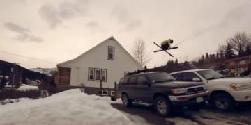 катание на лыжах видео
