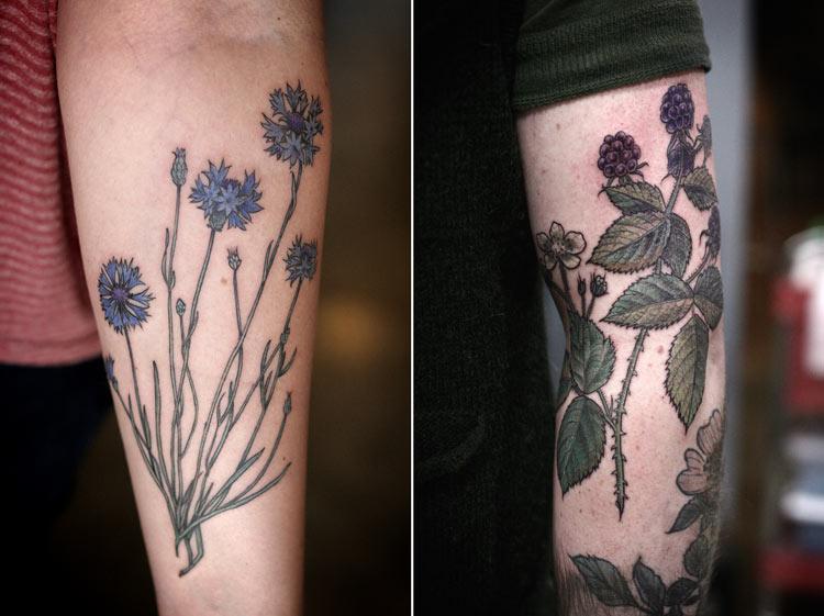 татуировки растительные