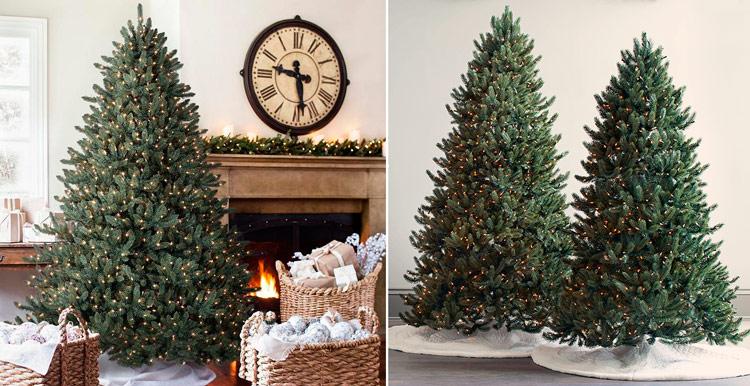 как украсить елку гирляндами фото