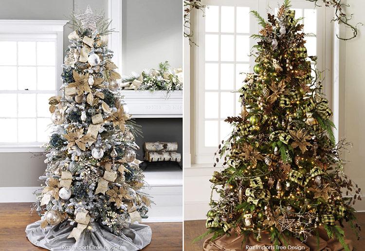 красиво украшенные новогодние елки фото