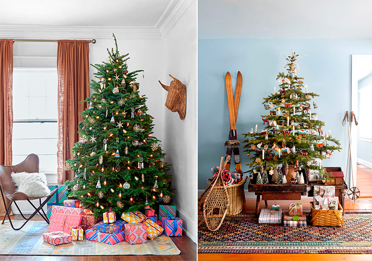 примеры наряженных новогодних елок