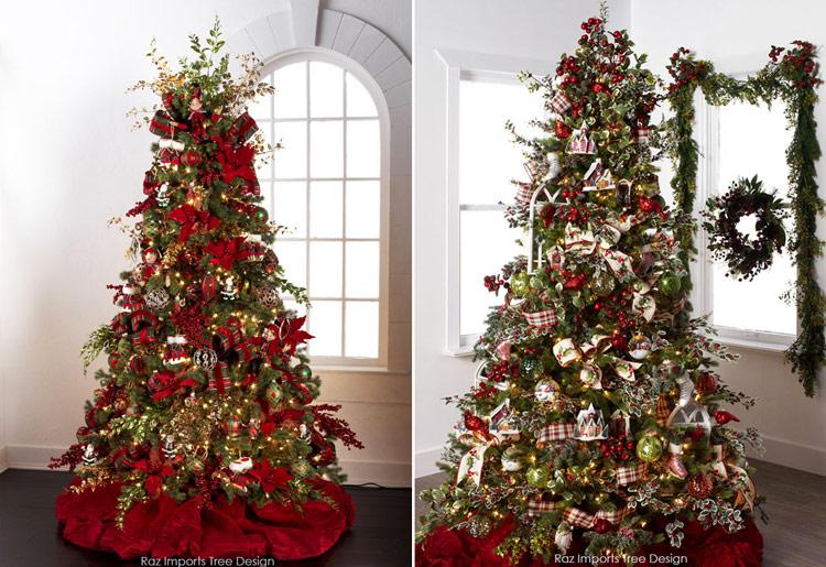 примеры украшения новогодних елок