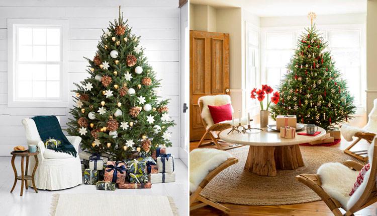 стильное украшение новогодней елки