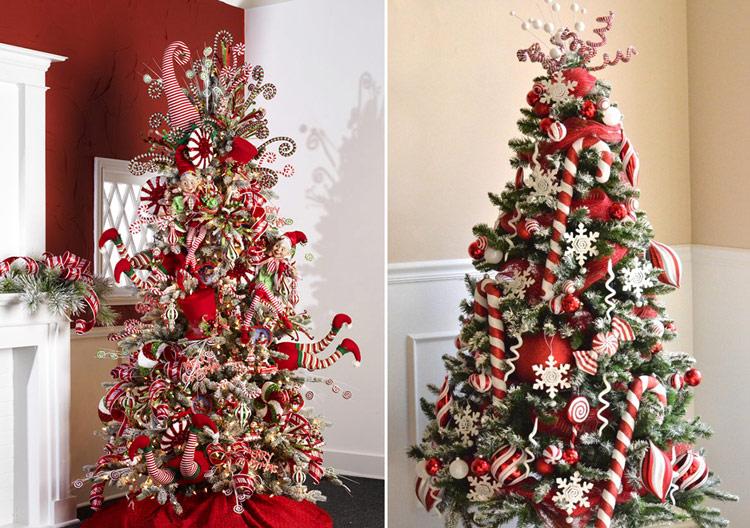 варианты украшения новогодней елки