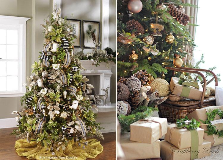 варианты украшения новогодней елки фото