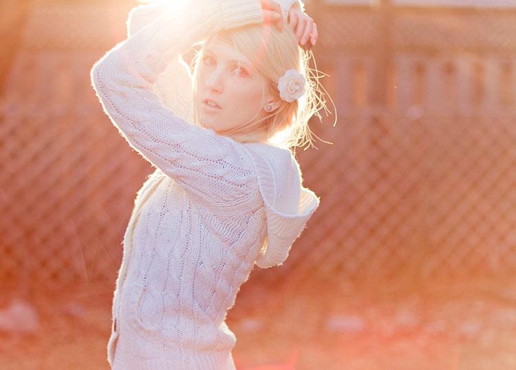 фото девушка весна блондинка