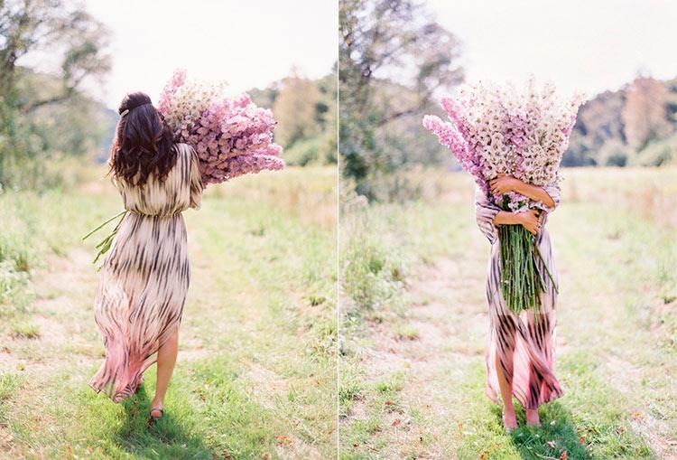 фото девушка весна спиной