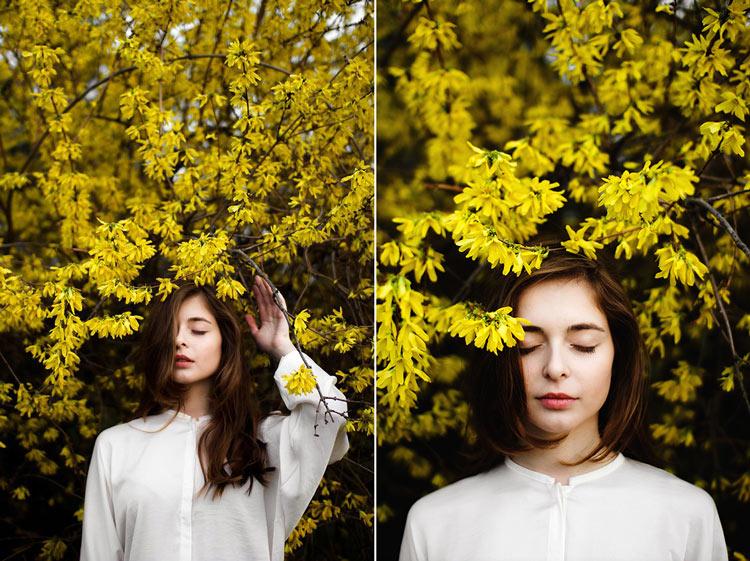 фотографии девушек на природе весной