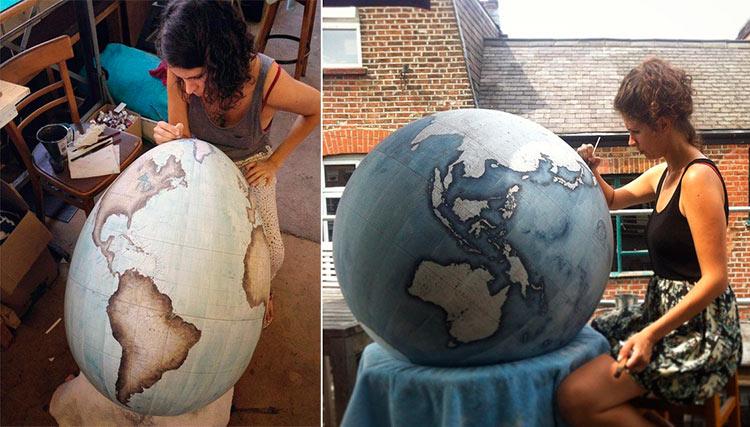 изготовить глобус