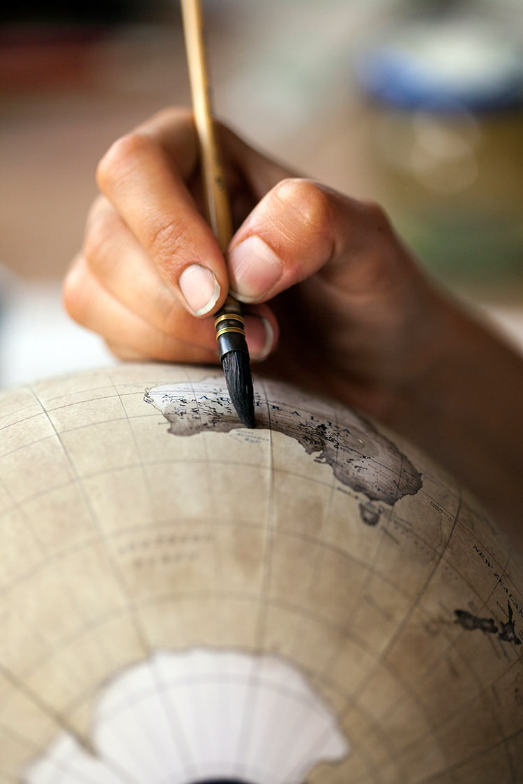как нарисовать глобус