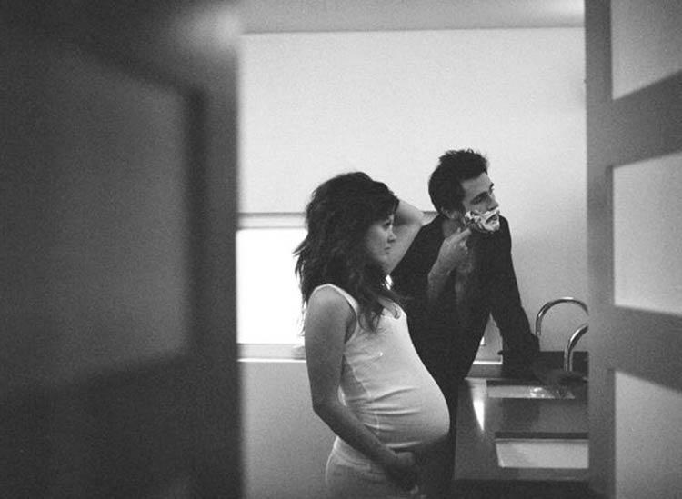 черно-белые фото беременных