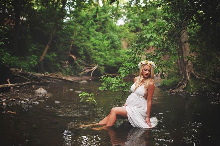 Беременная в лесу фото 45
