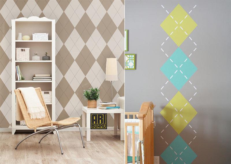 геометрические узоры и орнаменты на стены