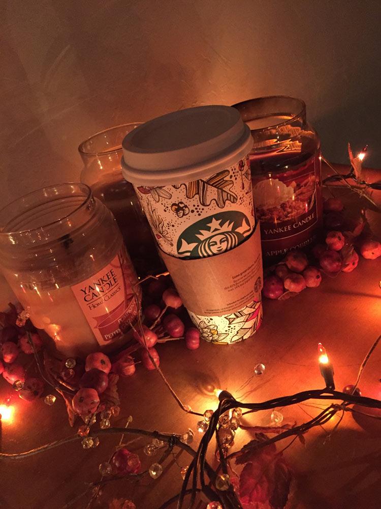 осень уют кофе фото