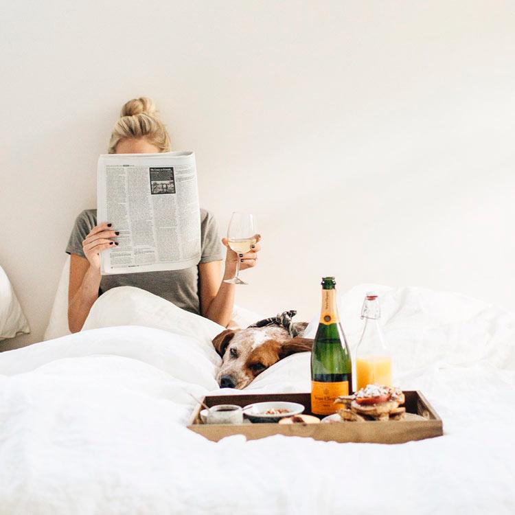 завтрак в постель для любимой