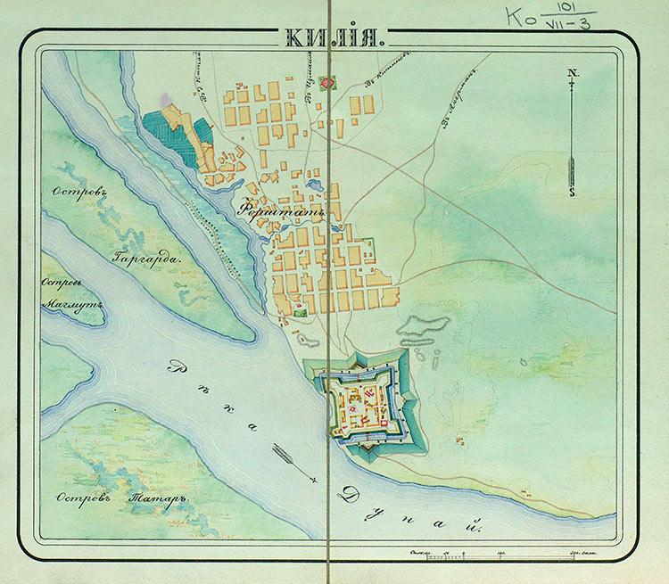 город килия крепость на старой карте