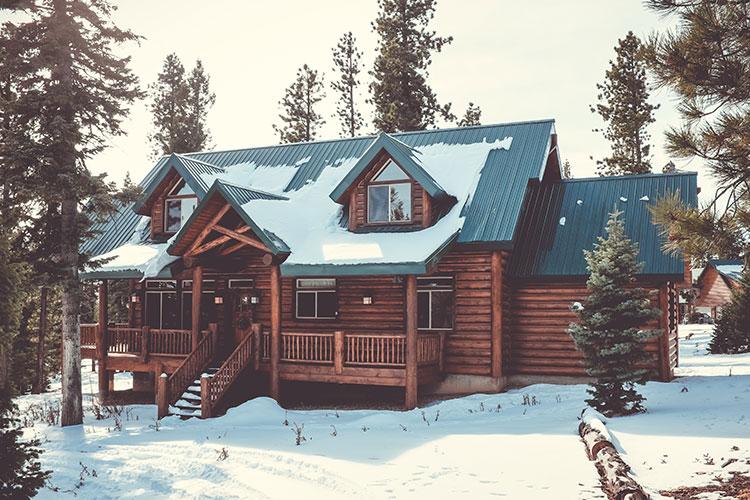 фото уютные домики в лесу