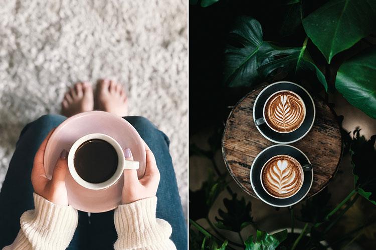 уютное фото с чашкой кофе