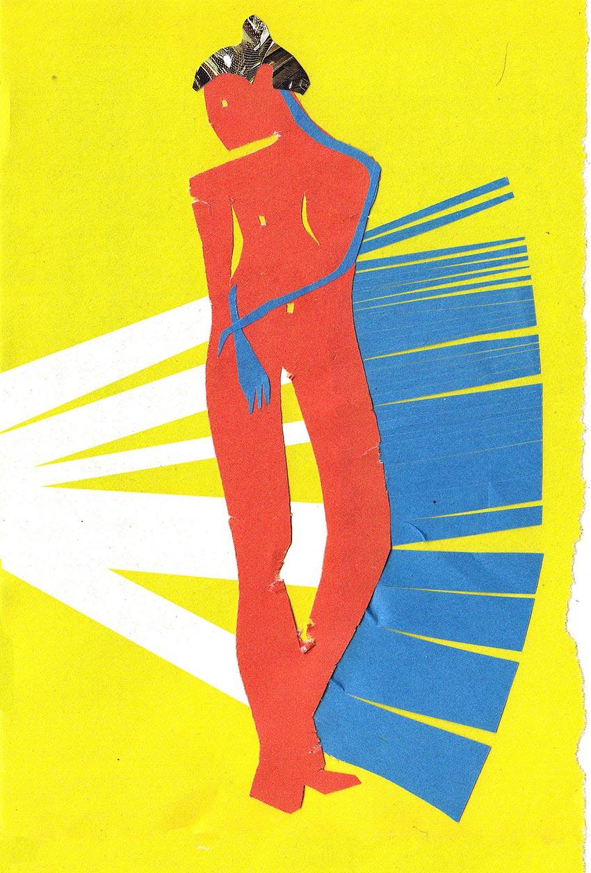 аппликации из цветной бумаги девушка женщина обнажённая