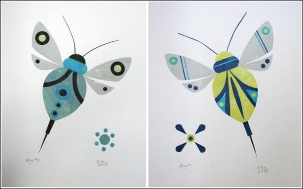 аппликация насекомые мотыльки из цветной бумаги для детей