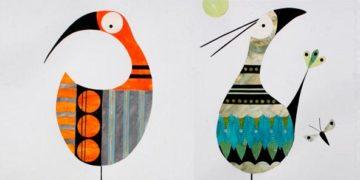 аппликации из цветной бумаги для детей птицы птички новогодние