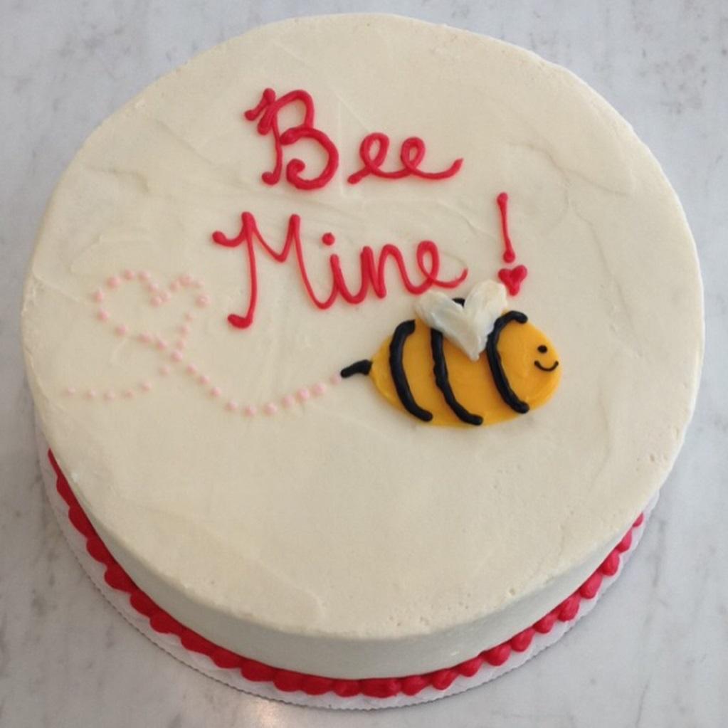 прикольный торт на день святого Валентина фото