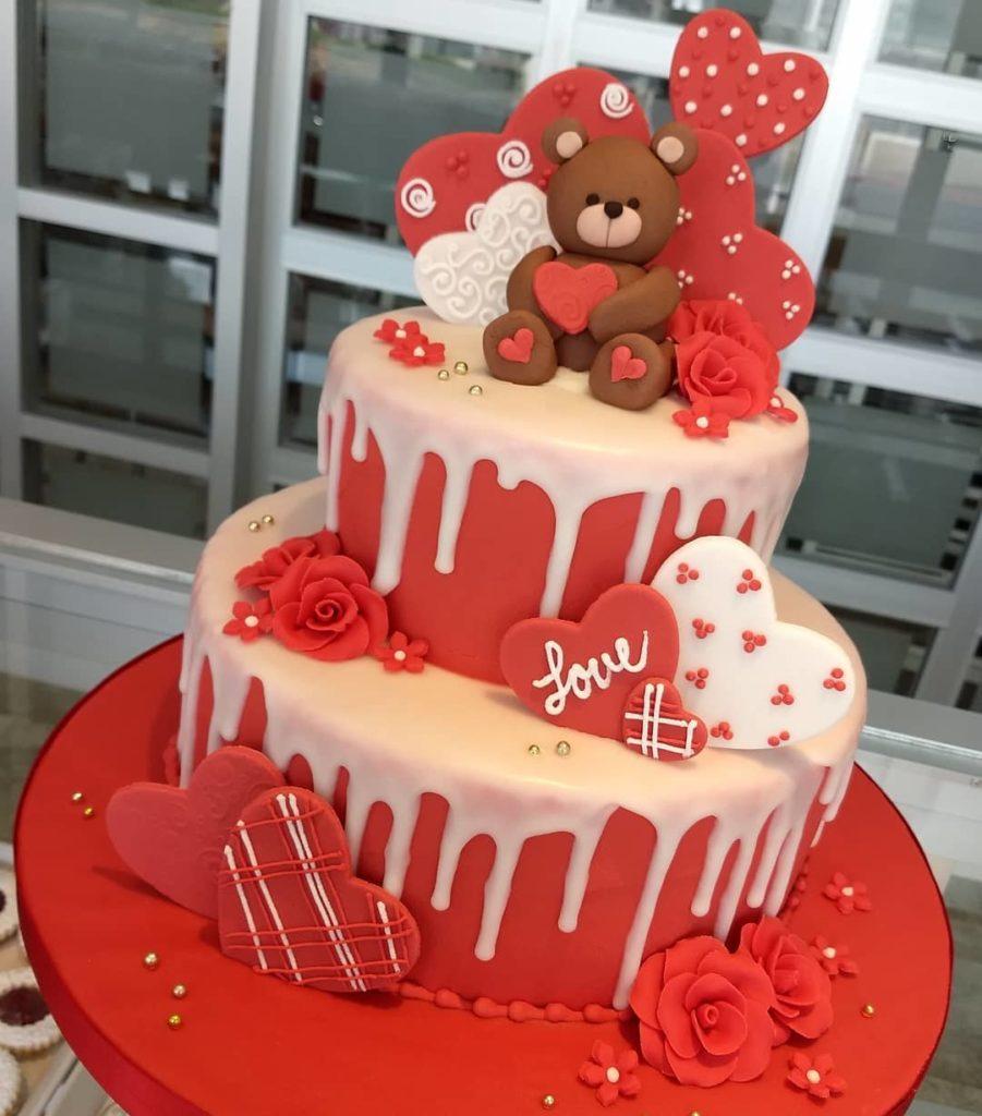 эксклюзивный торт на день святого Валентина фото