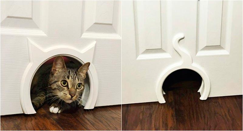 дверцы для котов в туалет