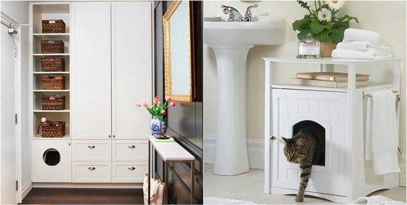 туалетный домик для кошек