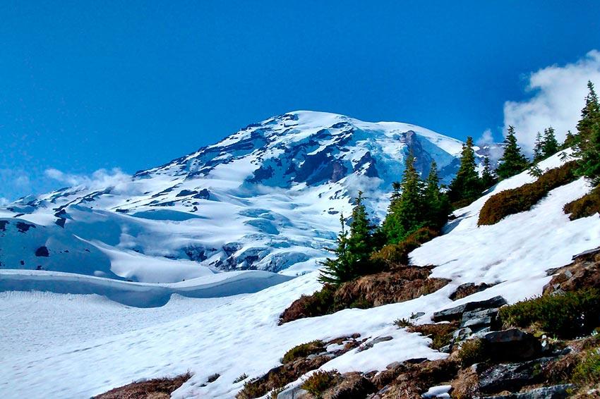 Гора Рейнир штат Вашингтон США 9