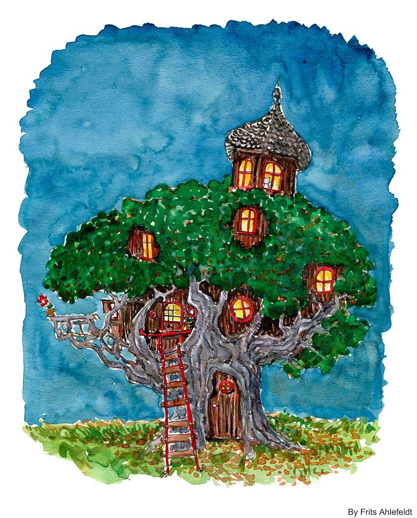 дом на дереве рисунок 6